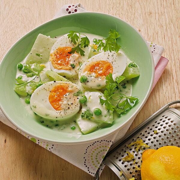 Eier mit kohlrabiragout rezept k cheng tter - Eier kochen dauer ...