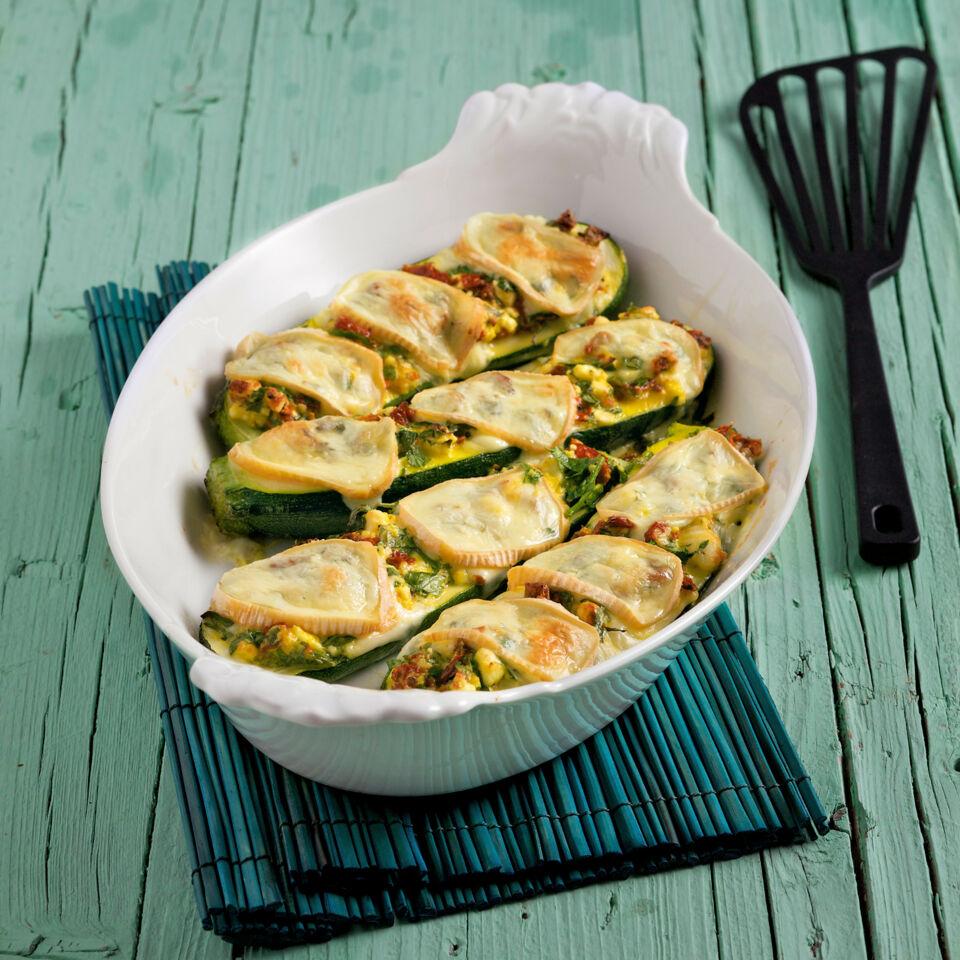 Gefüllte Zucchini mit Limburger
