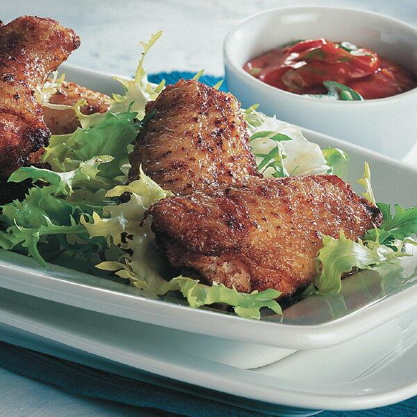 chicken wings mit tomaten dip rezept k cheng tter. Black Bedroom Furniture Sets. Home Design Ideas