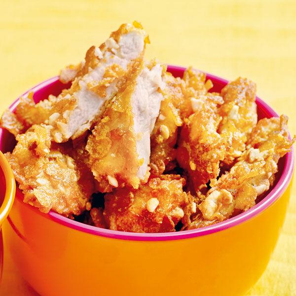 Nuggets Kcal: Erdnuss-Hähnchen-Nuggets Rezept