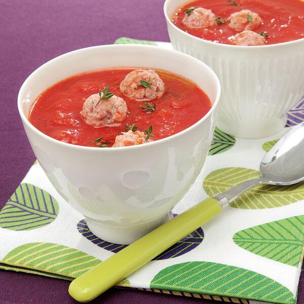 tomatensuppe mit mettb llchen rezept k cheng tter. Black Bedroom Furniture Sets. Home Design Ideas