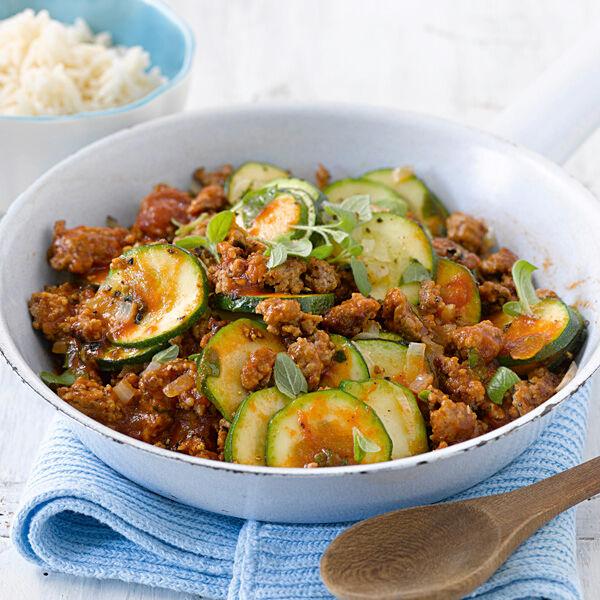 Rezepte mit hackfleisch zucchini und tomaten