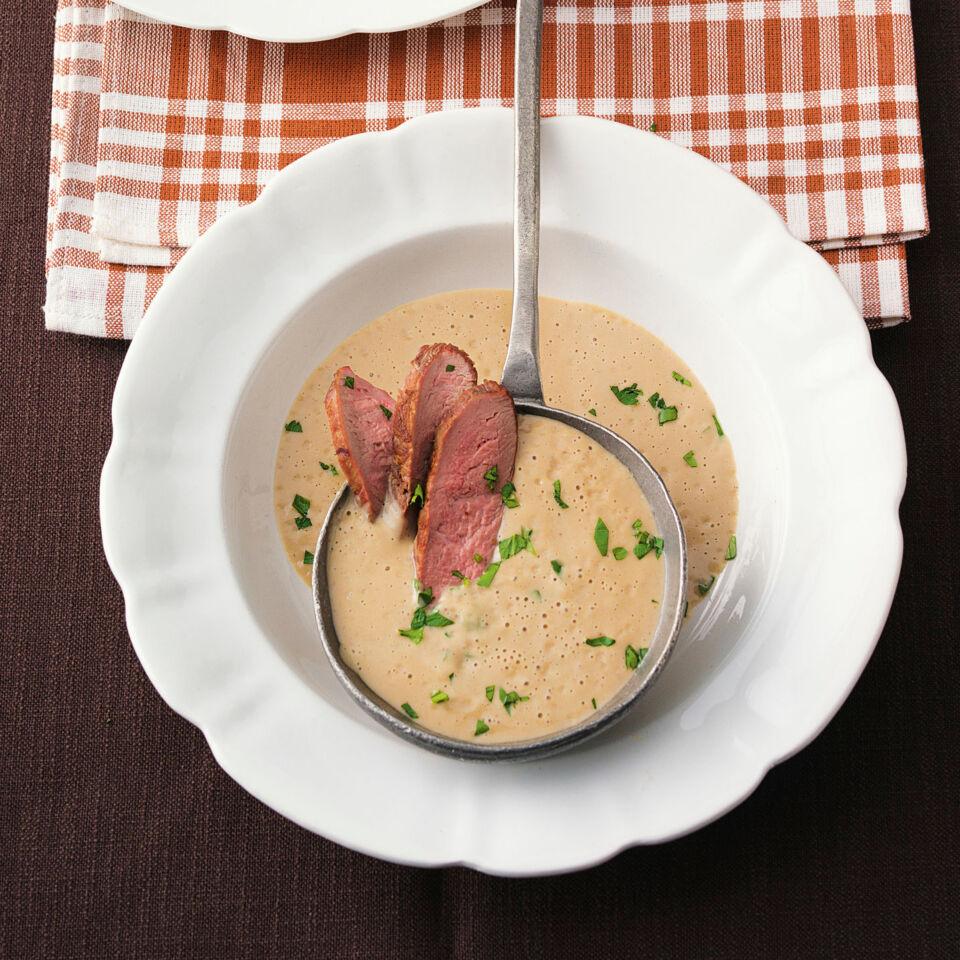 maronensuppe mit portwein