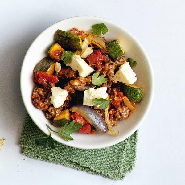 zucchini hackfleisch feta