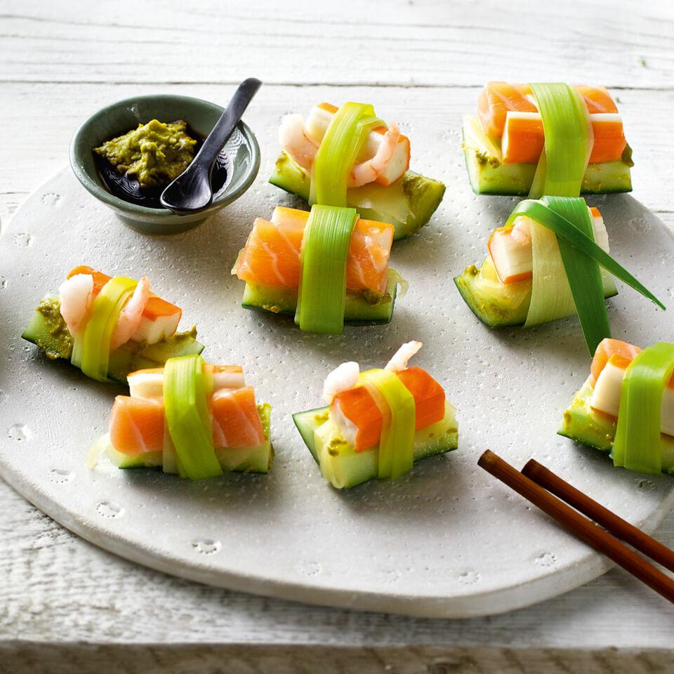 SIS-Sushi mit Lachs und Gurke