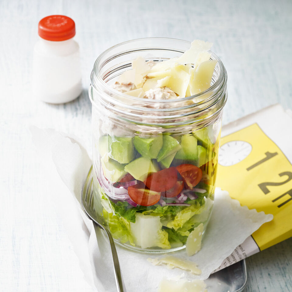 caesar schicht salat im glas rezept low carb k cheng tter. Black Bedroom Furniture Sets. Home Design Ideas
