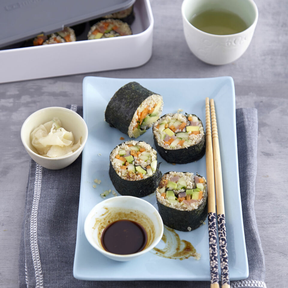 quinoa sushi rezept k cheng tter. Black Bedroom Furniture Sets. Home Design Ideas