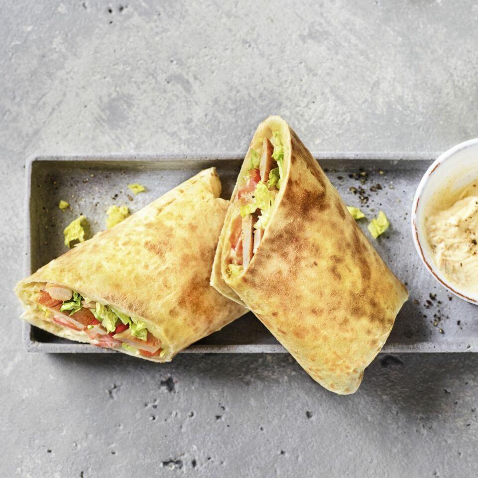 Burritos mit Erdnuss-Sauce