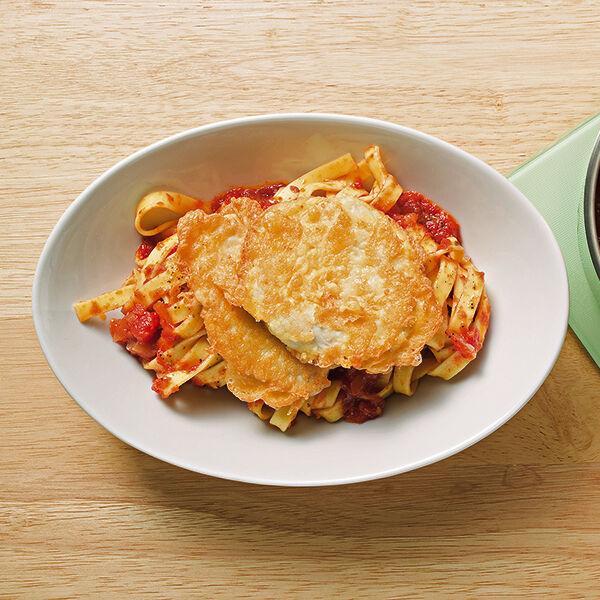 h hnchen piccata mit tomatensauce rezept k cheng tter. Black Bedroom Furniture Sets. Home Design Ideas