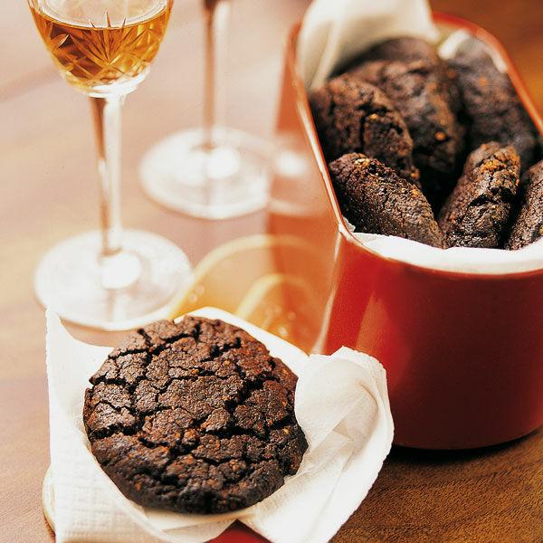 Weihnachtsplätzchen Schokoladenplätzchen.Italienische Schokoladenplätzchen
