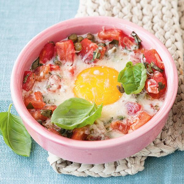Eier mit tomaten im f rmchen rezept k cheng tter - Eier kochen dauer ...