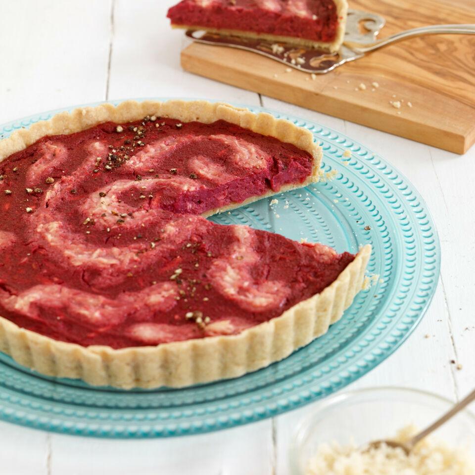 rote bete tarte mit meerrettich rezept k cheng tter. Black Bedroom Furniture Sets. Home Design Ideas