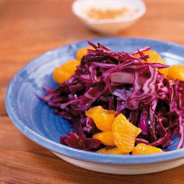 rotkohl mandarinen salat rezept k cheng tter. Black Bedroom Furniture Sets. Home Design Ideas