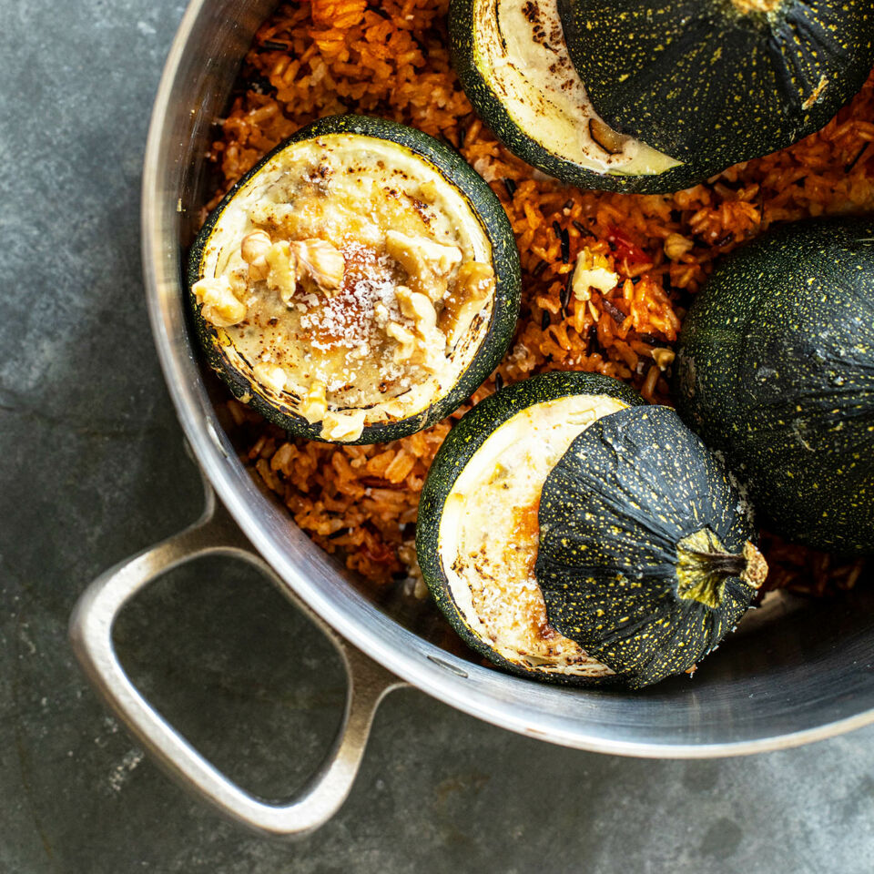 Grosse runde zucchini rezept