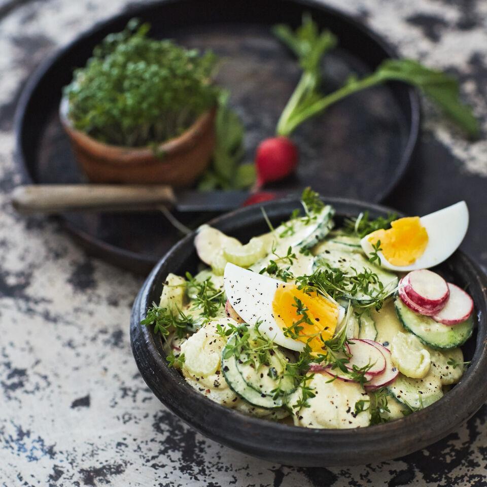 kartoffelsalat mit eiern und joghurt mayonnaise rezept k cheng tter. Black Bedroom Furniture Sets. Home Design Ideas