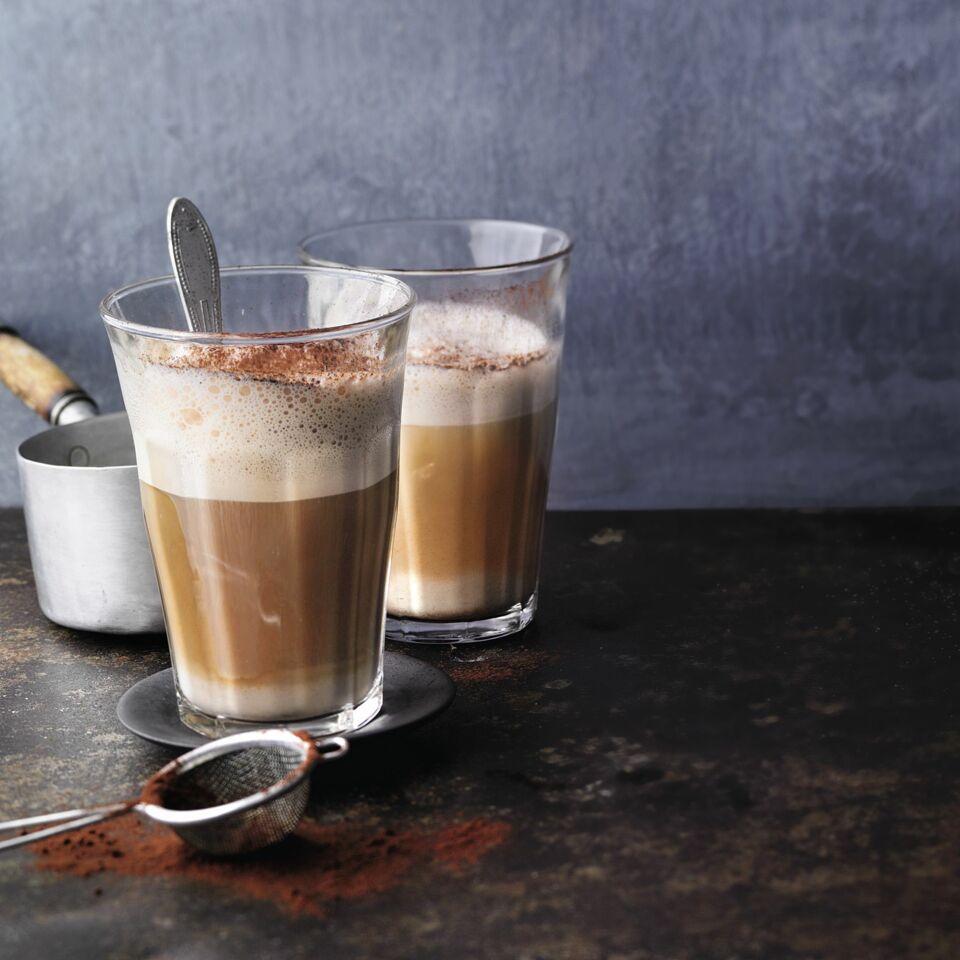 latte macchiato mit nougat und espresso rezept   küchengötter