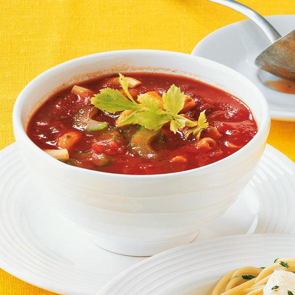 tomatensuppe mit käseklößchen –