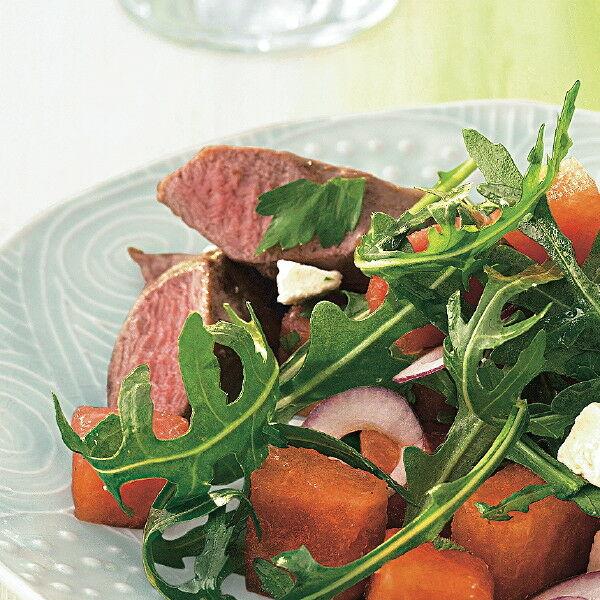 melonen feta salat mit lamm rezept k cheng tter. Black Bedroom Furniture Sets. Home Design Ideas