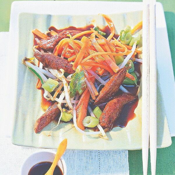 teriyaki rindfleisch mit wok gem se rezept k cheng tter. Black Bedroom Furniture Sets. Home Design Ideas