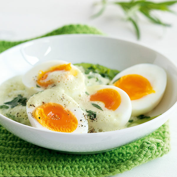 Eier auf gurkensauce rezept k cheng tter - Eier kochen dauer ...