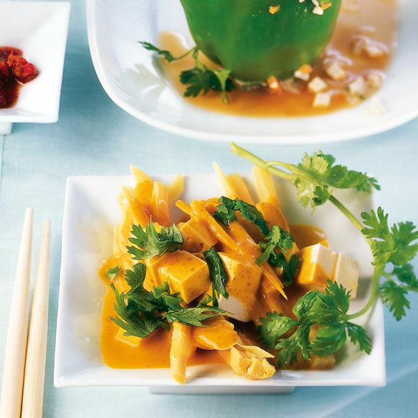 Curry Tofu Mit Bambussprossen Rezept Kuchengotter