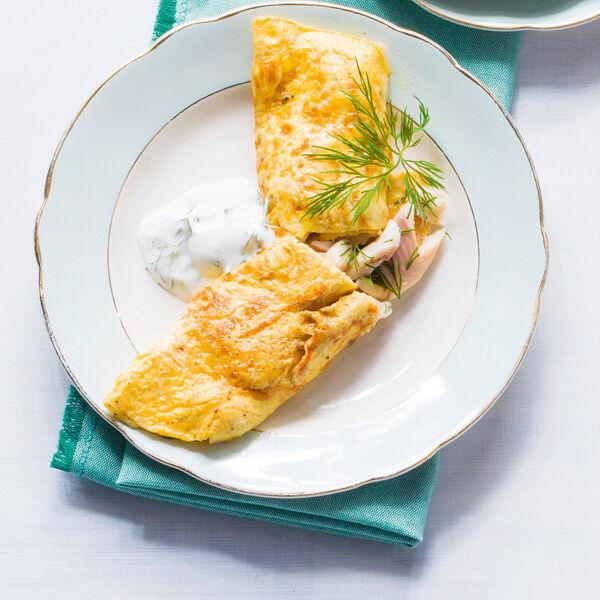 omelett mit r ucherforelle rezept k cheng tter. Black Bedroom Furniture Sets. Home Design Ideas