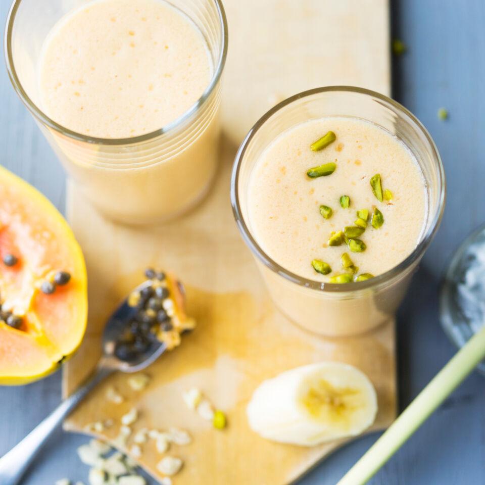 papaya kokos smoothie rezept k cheng tter. Black Bedroom Furniture Sets. Home Design Ideas