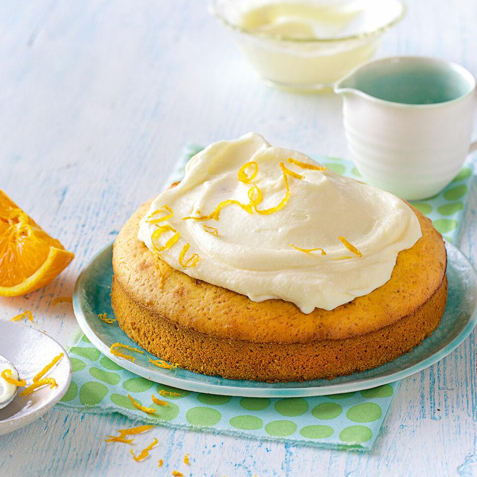 Orangenkuchen Mit Frischkasehaube Rezept Schnell Kuchengotter
