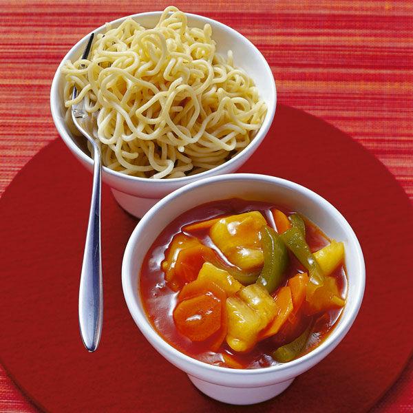 Nudeln Mit Süss Saurer Sauce Rezept Küchengötter