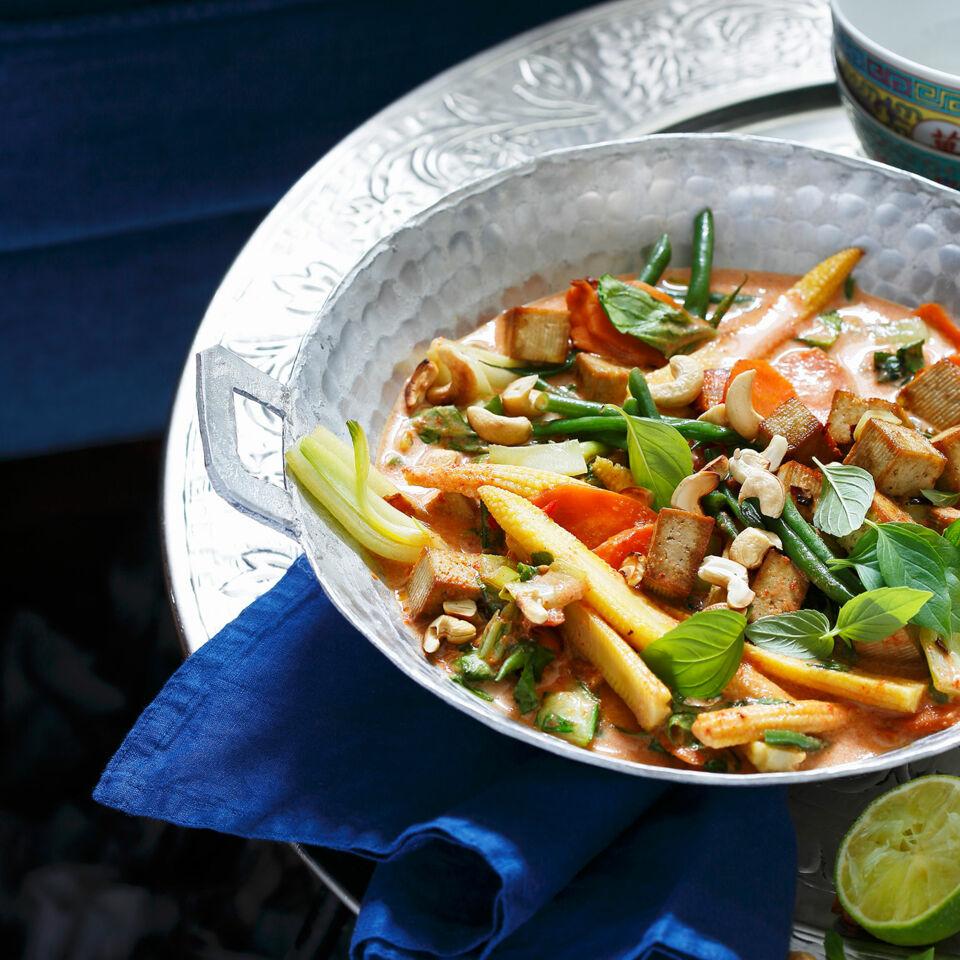 Rotes Thai Curry Mit Tofu Rezept Küchengötter