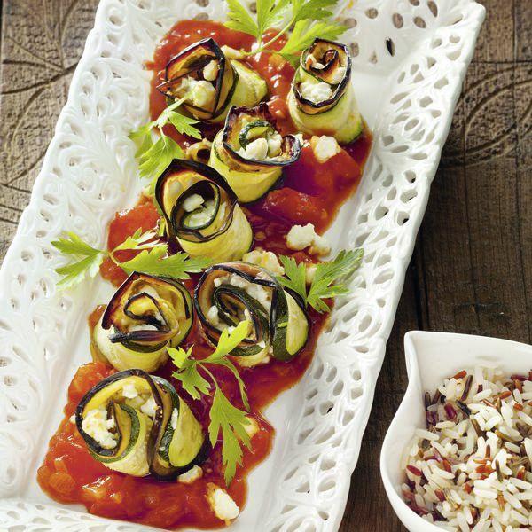 auberginen zucchini r llchen mit feta rezept k cheng tter. Black Bedroom Furniture Sets. Home Design Ideas