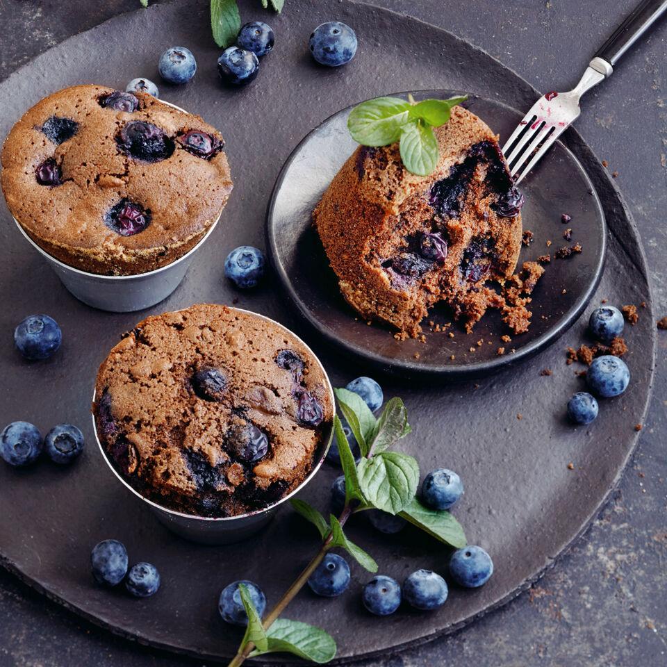 blaubeermuffins mit minzlikör rezept glutenfrei
