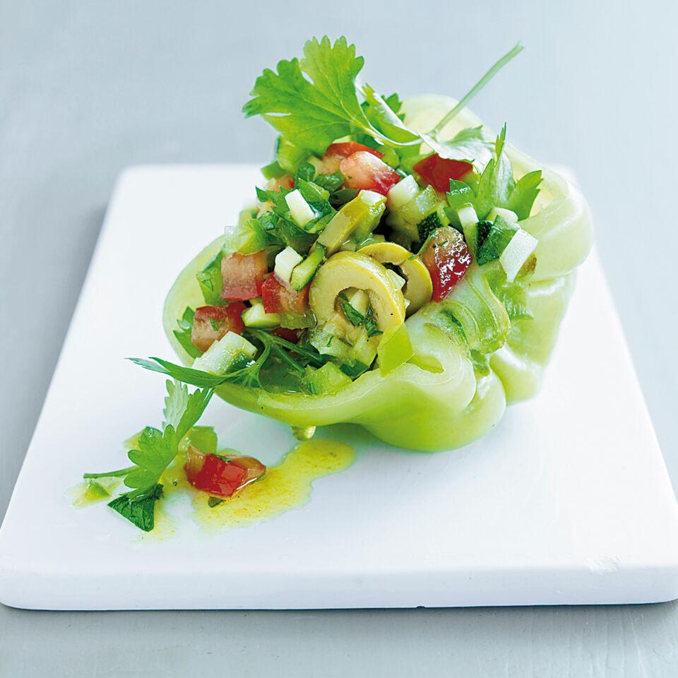 paprika zucchini salat rezept k cheng tter. Black Bedroom Furniture Sets. Home Design Ideas